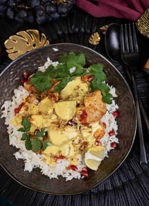 Knuspriges Huhn mit Hot India Sauce