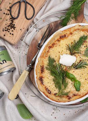Käse Lasagne mit Spinat und Kräutern