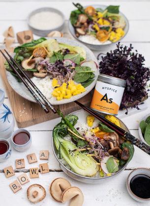 Grüne Asia Gemüse Bowl