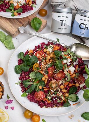 Couscous Salat mit Roter Rübe & Feta