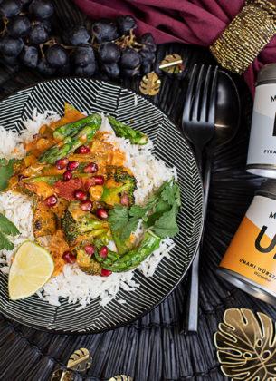 Grünes Gemüse-Curry